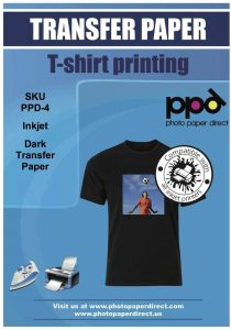 PPD Inkjet Iron-On Dark T-shirt Transfer Paper LTR
