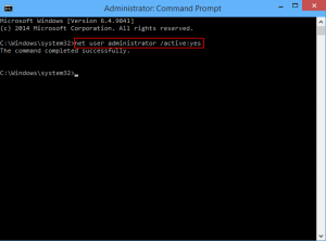 Enable or disable it through Command Prompt with administrator privilege