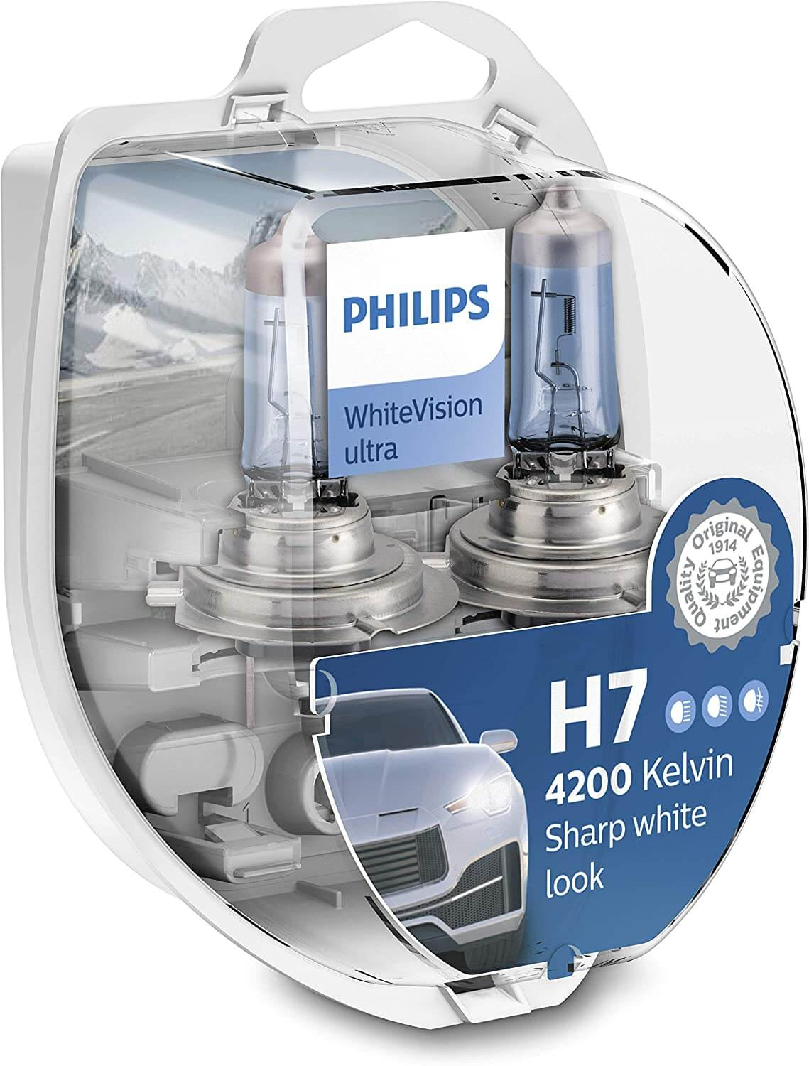 Lampe frontale Philips WhiteVision Ultra H7